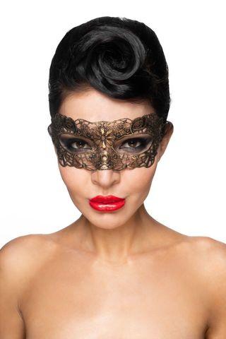 Золотистая карнавальная маска  Киталфа