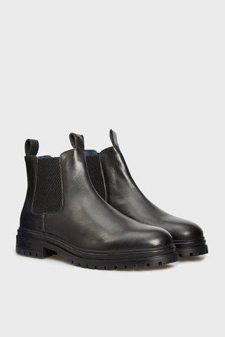 Мужские черные кожаные челси Theo PRPY