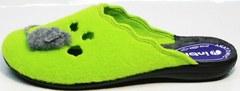 Войлочные тапочки женские Inblu NC- 1B Mouse Light Green
