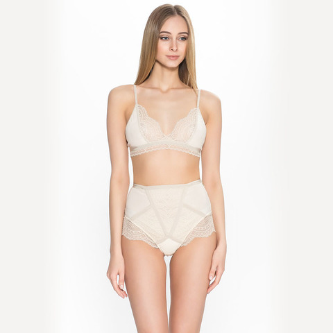 Трусы High-waisted Briefs Le Journal Empress Fike (M/L, слоновая кость )