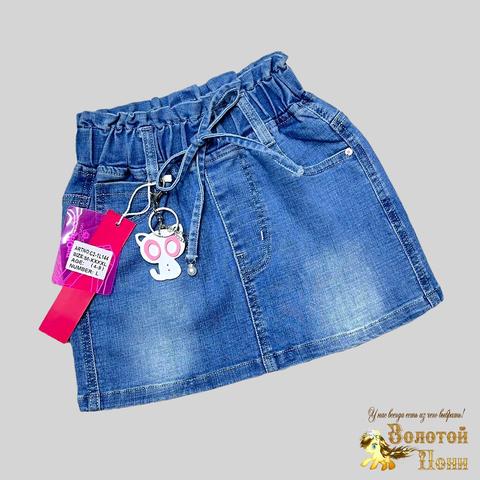 Юбка джинсовая девочке (4-9) 210312-С2-1L144