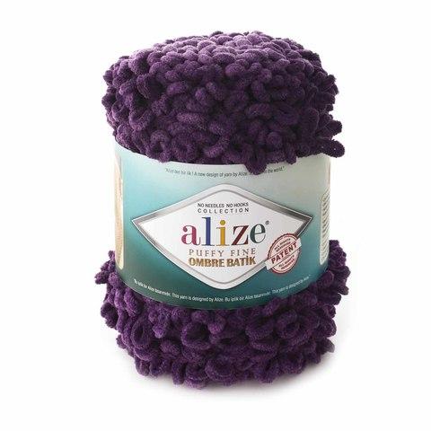 Купить Пряжа Alize Puffy Fine Ombre Batik | Интернет-магазин пряжи «Пряха»