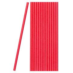 Трубочки для коктейля бумажные сплошные красные в пленке(50шт/уп)(40уп/кор)