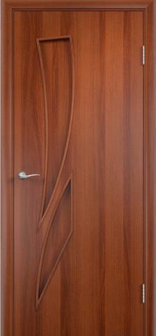 Дверь Фрегат ПГ-012 Пламя, цвет итальянский орех, глухая