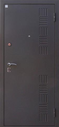 Дверь входная Сапфир 2 стальная, венге, 2 замка, фабрика Алмаз