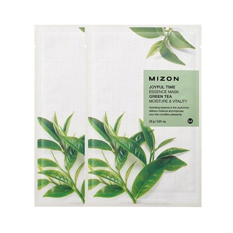 MIZON  Маска с  экстрактом зеленого чая   joyful time essence mask green tea  23 g