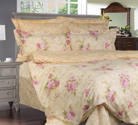 Сатиновое постельное бельё  2 спальное  В-146