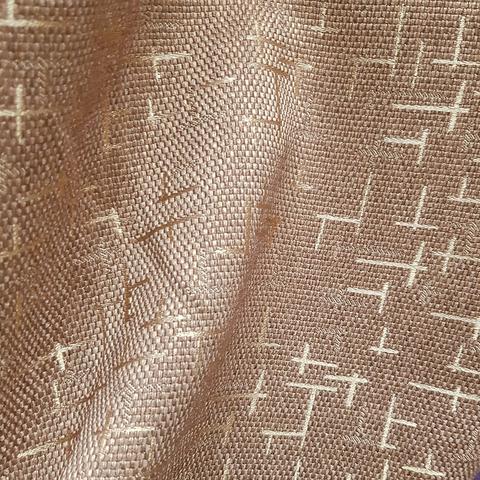 Блэкаут рогожка Штрихи коричневые оптом и на отрез. Ш-280 см. Арт. BLDJ-R8R