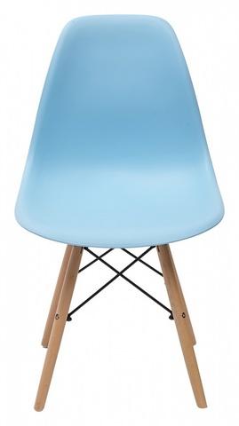 Стул NUDE голубой М-City (обеденный, кухонный, для гостиной), Материал каркаса: Массив бука, Цвет каркаса: Натуральный, Материал сиденья: Пластик, Цвет сиденья: Голубой, Цвет: Голубой, Материал каркаса: Дерево
