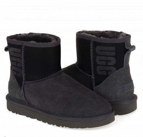 UGG Classic Mini Rubber Boots Grey