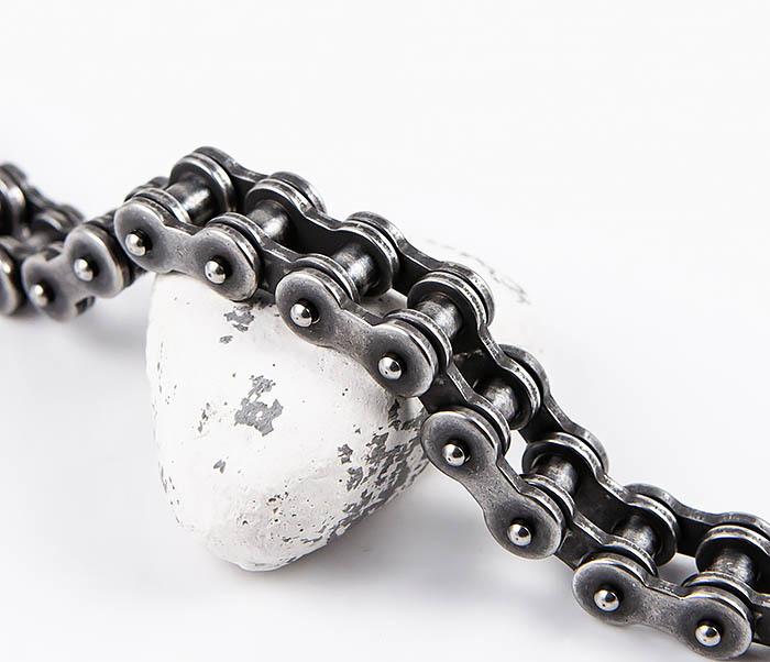 BM546 Тяжелый браслет цепь из стали Gun Metall фото 04