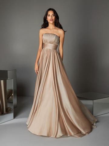 Вечернее платье классическое кофейное