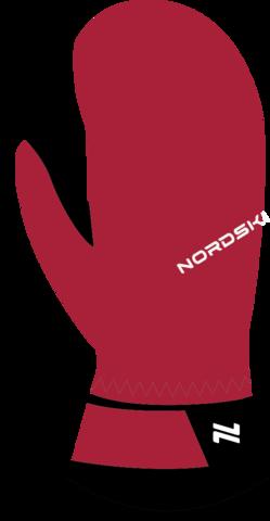 Варежки Nordski Arctic Black/Raspberry Membrane W