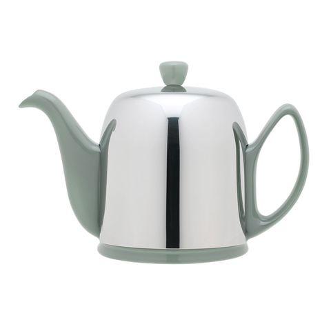 Фарфоровый заварочный чайник на 6 чашек с цинковой крышкой, фисташковый, артикул 236270