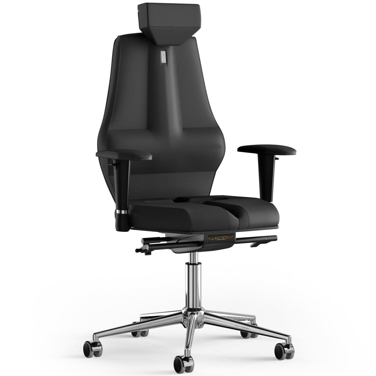 Кресло KULIK SYSTEM NANO Экокожа с подголовником без строчки