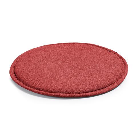 Подушка Stick круглая бордовая