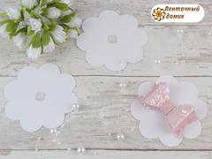 Подложка для резинок и заколок  цветок белая №13