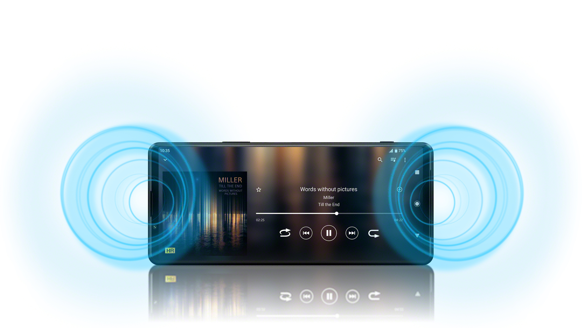 Слушайте вашу любимую музыку на смартфоне Xperia 1 III в наушниках и без