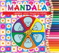 Mandala. Uşaqlar üçün boyama kitabı (çəhrayı)