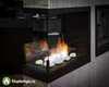 Торцевой биокамин Lux Fire в интерьере