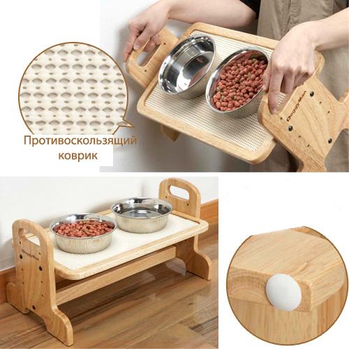 деревянные подставки под миски для собак