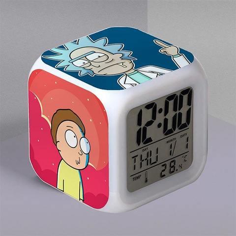 Часы-будильник с Риком и Морти