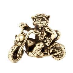 Кот байкер Born to Ride кулон статуэтка