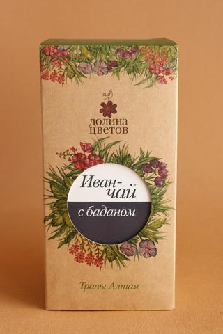 Иван-чай с баданом  в коробке 50г