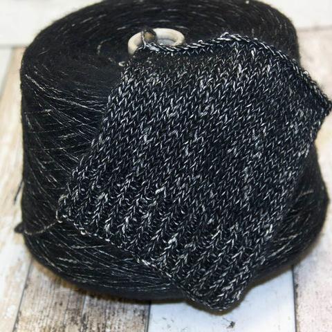 Вспушенная шерсть на хлопке ECAFIL MARVEL 300 черно-белый