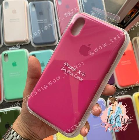 Чехол iPhone XR Silicone Case Full /dragon fruit/ тёмная фуксия