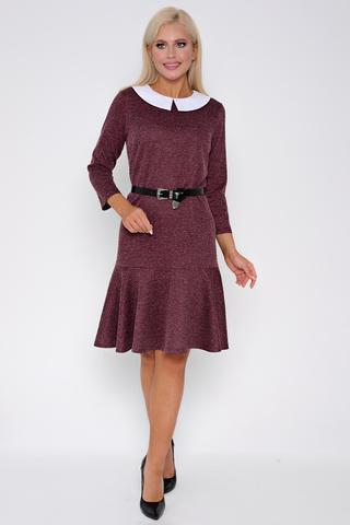<p>Это платье - вне конкуренции. Идеальная посадка, рукав 7/8 , по низу изделия волан. Белый воротник-легкий способ привнести в образ оригинальности.&nbsp;</p>
