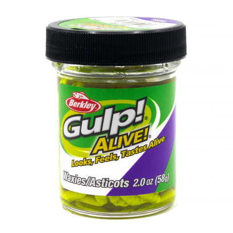 Приманка силиконовая Berkley Gulp! Alive! Waxies 1 см. Chartreuse (1140592)