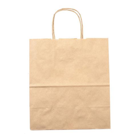Подарочный пакет крафтовый, средний 26 х 22 см