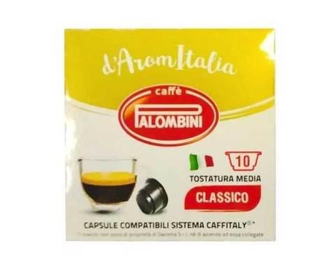 Кофе в капсулах Palombini Classico Cremoso, 10 капсул для кофемашин Caffitaly
