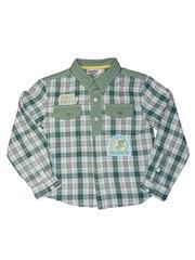 Рубашка для мальчика зеленая в клетку