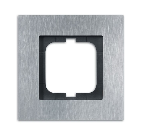 Рамка на 1 пост. Цвет Нержавеющая сталь. ABB(АББ). Carat(Карат). 1754-0-4254