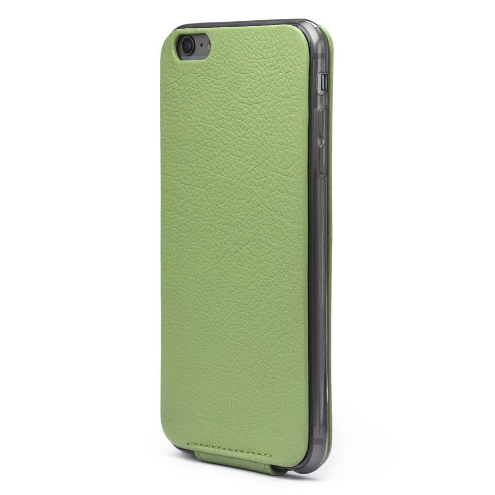 Чехол для iPhone 6/6S из натуральной кожи теленка, цвета светлой оливы