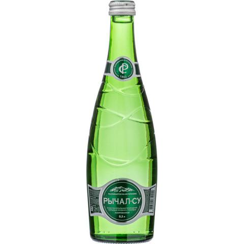 Вода минеральная Рычал-Су газированная 0.5 л (12 штук в упаковке)