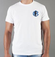 Футболка с принтом FC Internazionale (ФК Интернационале) белая 0012