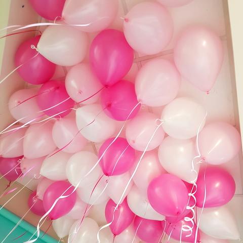 Шары под потолок розово-белые 50 шт.