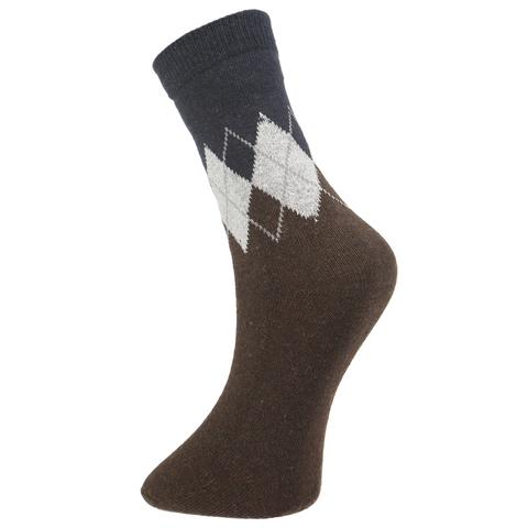 Мужские носки коричневые ROMEO ROSSI с шерстью 8045-15