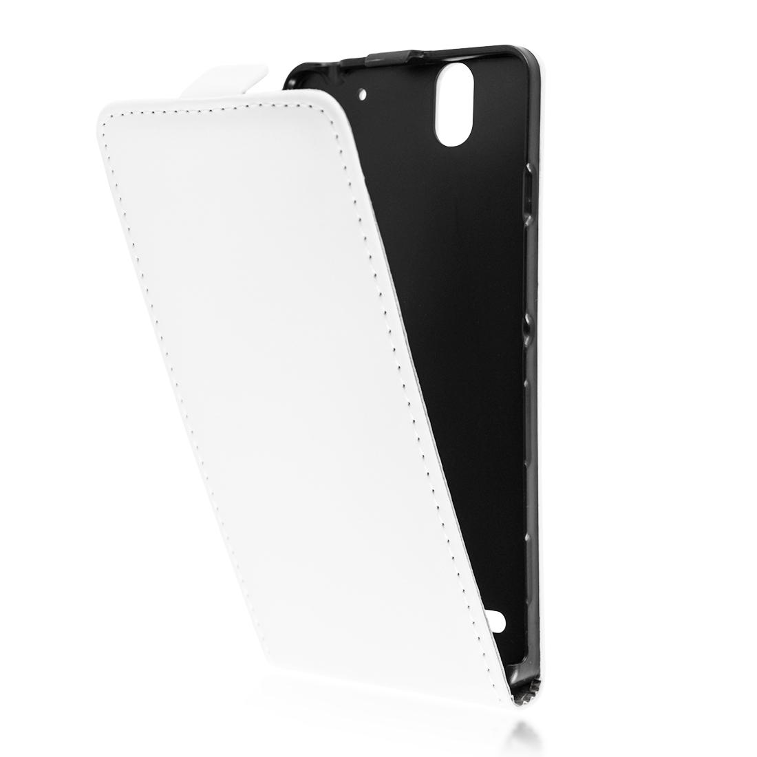 Чехол флиппер Brosco для Xperia C4 белого цвета купить в Sony Centre