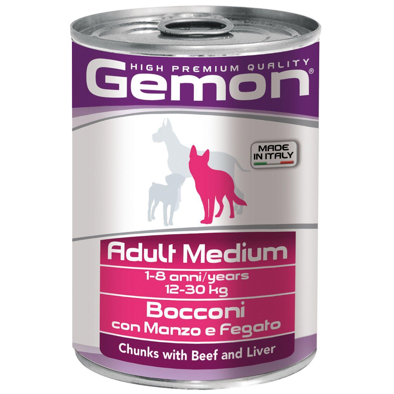 Gemon Консервы для собак Gemon Dog Medium кусочки говядины с печенью 70387859_1.jpeg