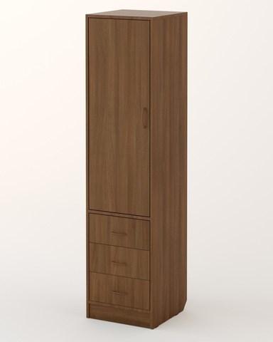 Шкаф-пенал П-01 орех темный