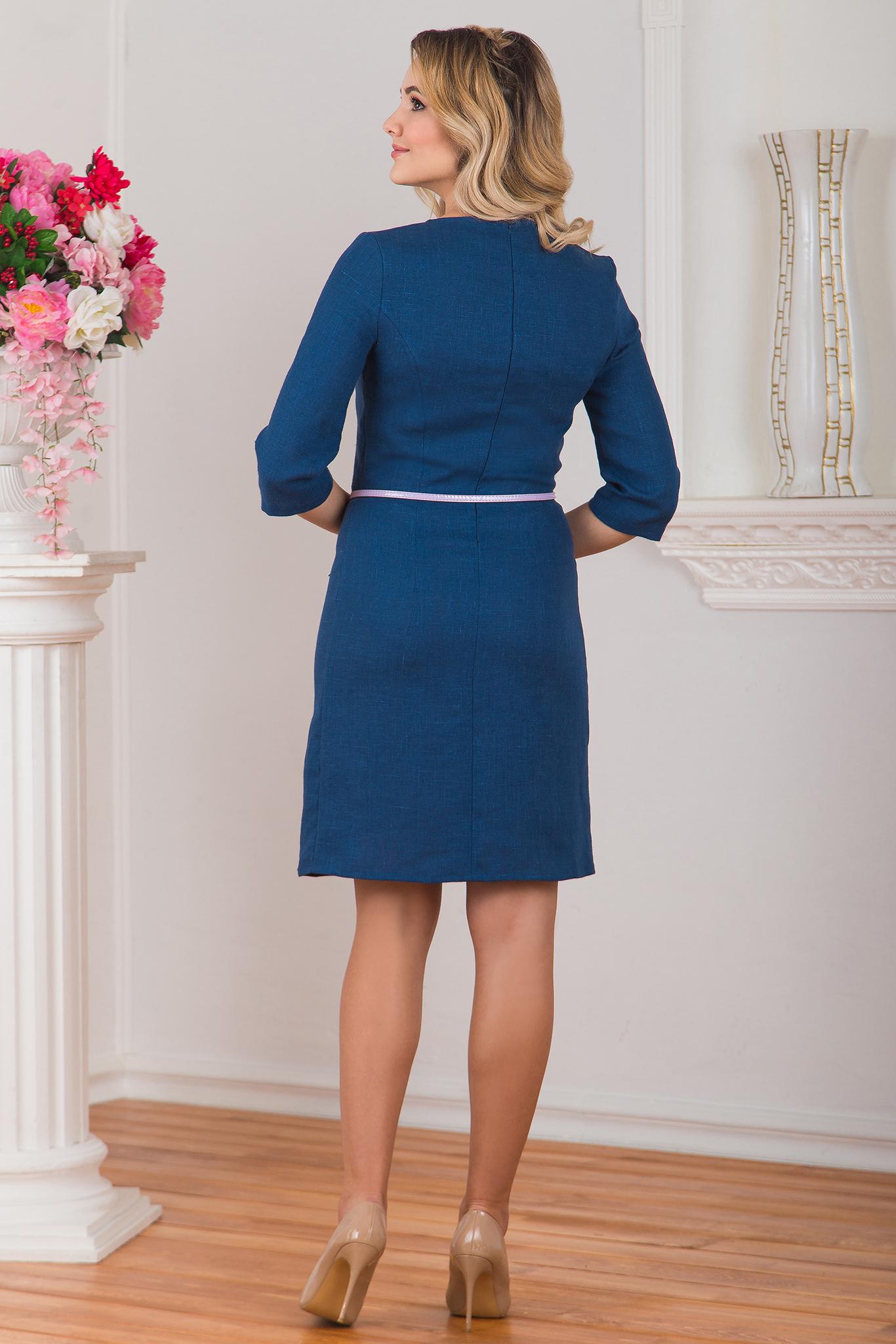 Платье льняное Катунь вид сзади