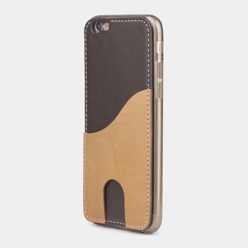 Чехол-накладка Andre для iPhone 6/6S из натуральной кожи теленка, темно-коричневого цвета