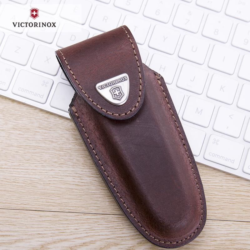 Чехол Victorinox для ножа 111 мм., 2-4 уровня (4.0537) коричневая кожа - Wenger-Victorinox.Ru