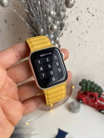 Ремешок Apple watch 42mm Leather Link /yellow/