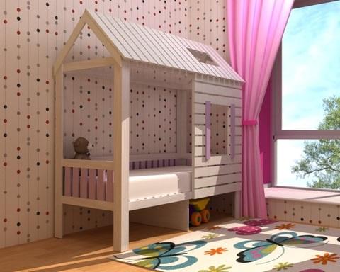Кровать АМИ-1-1800-0800 /1904*1885*920/ левая
