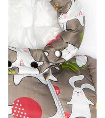 MalekBaby. Комбинезон-конверт трансформер с помпоном, заяц на капучино